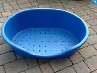 Large Blue Dog Basket