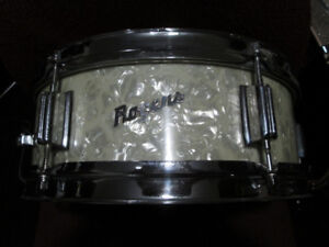 Rogers Luxor Snare drums. White Marine Pearl finish. 1960,s