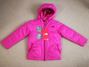 North Face Toddler Girls' Perrito Reversible Jacket - 4T - BNWT