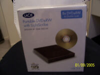 BNIB LaCie Portable DVD-RW W/Lightscribe Design by Sam Hecht