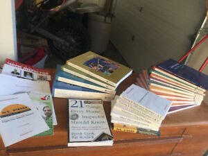 Books package! Study to become a Home Inspector.