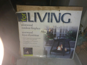 149.99 Brand new in box..$50 quick sale outdoor fireplace