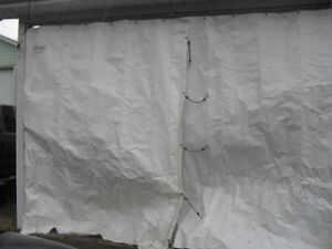 Garage: toile d'hiver pour car-port ( ensemble complet)