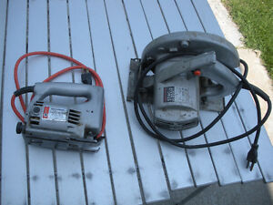Jig saw and Circular saw