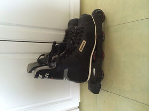 Like new Bauer 200 inline rollerblades skates size 11 mens