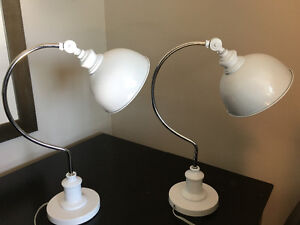 White adjustable lamps