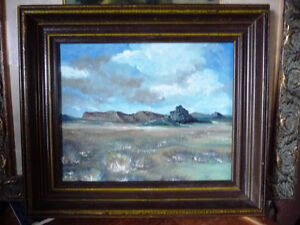 "Original Oil Painting by Graham ""Landscape Under A Cloudy Sky"" Stratford Kitchener Area image 1"