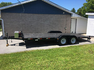 18ft car trailer with winch and custom lights