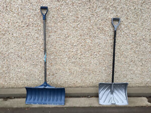 Two Snow shovels