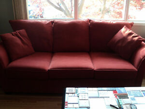 Sofa Custom Canadian 3 cushion persimmon colour