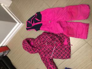 4t girls Columbia snow suit