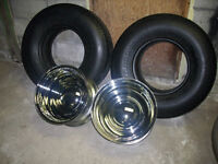!! OLD SCHOOL RIMS AND TIRES FOR HOTROD MUSCLECAR !!