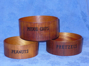 Vintage Teak Wood Danish Snack Bowl Bol Bois