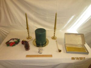 Brass and Gold candle set