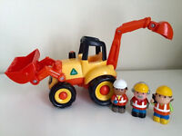 Happyland digger with lights and sounds and 3 figures (workmen). Collection from Langley Moor.