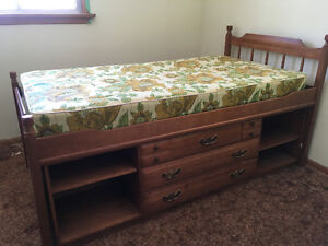 Twin Captains Bed with mattress