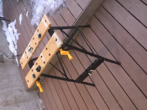 Portable work bench $10