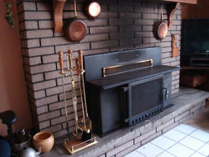 4 piece fireplace set