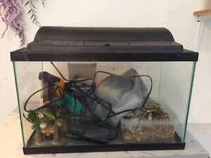 Fish Tank - 10 Gallons & Accessories