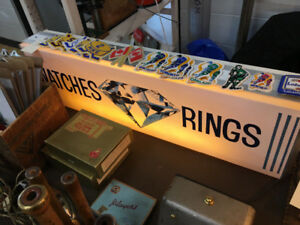 Vintage lighted Jewelry sign