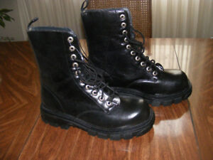 Black Army Style Boots New