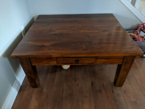 Square coffee table and end table