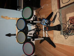 PlayStation 2 with 1 controller and Rockband