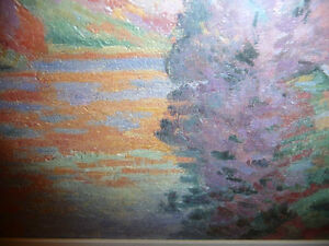 "Impressionist ""Autumn Reflections' Matted Art Print Stratford Kitchener Area image 6"