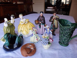 Collection of Royal Doulton Figurines, etc. - REDUCED