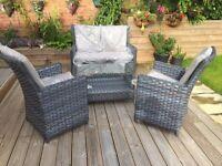 Garden or conservatory sofa set