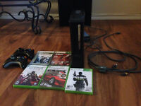 Xbox 360 with 2 Controllers and 5 games