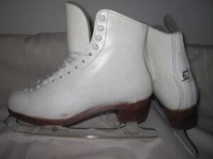 Women's Figure Skates (Gam Maxi) Size 5 with MK Freestyle Blades