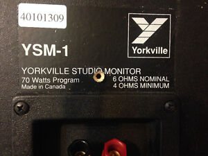 Yorkville YSM-1 Monitor Speakers and wall mounts