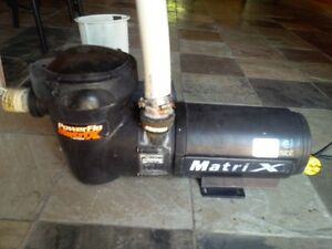 HAYWARD PUMP 1 HP - 120 V - needs new bearing $13.00 - easy fix.