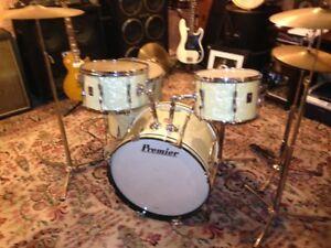 Premier birch drums marine pearl vintage