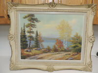 Listed Canadian artist landscape oil painting