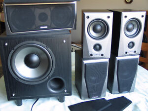Mission M2s 5 speaker surround set