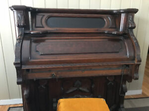 Antique organ and stool