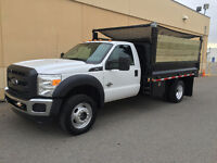 2011 FORD F450 4X4 DIESEL DUMP TRUCK ONLY 51,000KMS !! DEAL !!