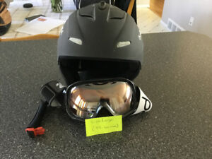 Ski helmet and goggles