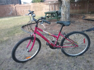 Pink Laser Bicycle hardly used 24 inches
