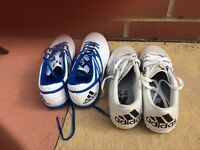 2 pairs of adidas shoes