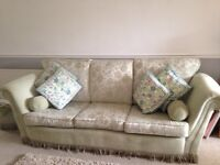 Three piece sofa green