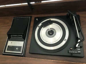 Record Player, 8 Track and AM/FM Radio