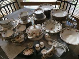 Elegant vintage porcelain dinner set