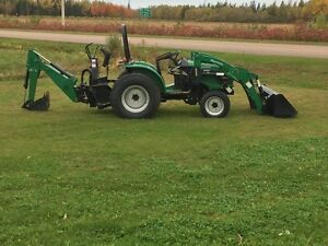Compact Tractor, Loader and Backhoe