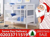 Brand New White Wooden Bunk Bed Available With Mattress Houston