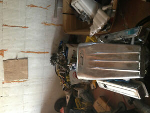 350 ci engine/headers/ high rise manifolds/ parts