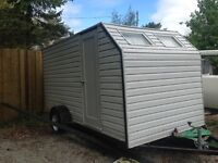 Custom built 6x12 camper/cargo trailer