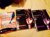 Three A Level ICT Computing Computer science textbooks